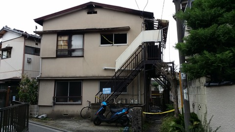 火事のあった平田1丁目の都築ハイツ