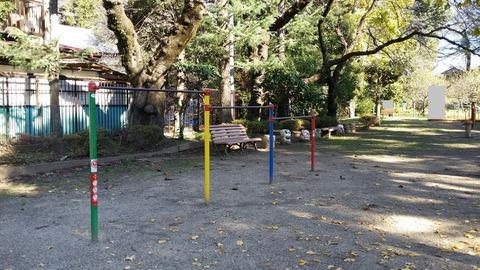里見公園の遊具(鉄棒)