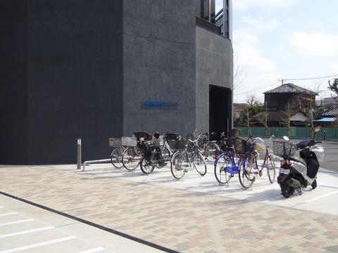 八幡市民会館の駐輪場