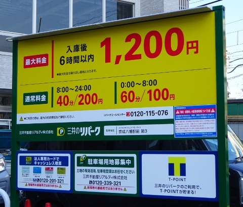 京成八幡駅前にコインパーキングがオープン