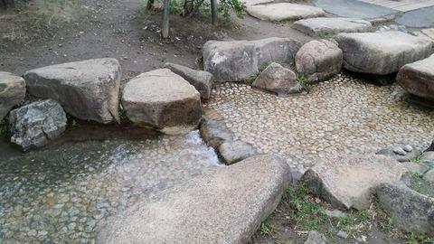 大洲防災公園の水遊び場