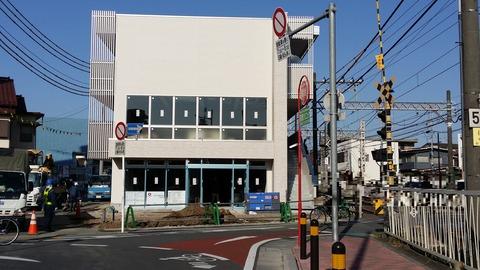 京成八幡駅踏切そばの共同住宅建設地