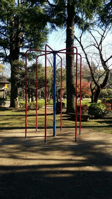 里見公園の遊具(のぼり棒)