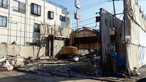 セブンイレブン市川大野店が取壊し