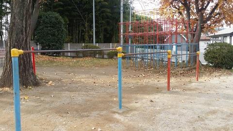 須和田公園の鉄棒