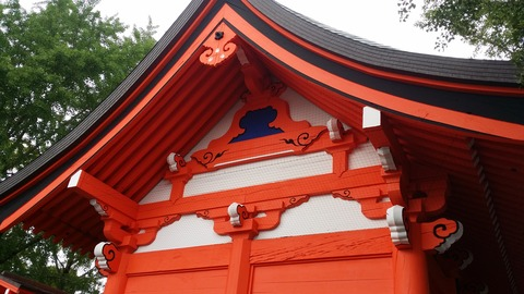 葛飾八幡宮の随神門