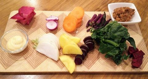 焼鳥サトウの野菜盛り