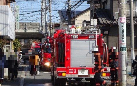 下総中山駅近くで火事