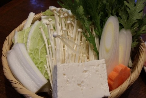 しゃぶ門の野菜