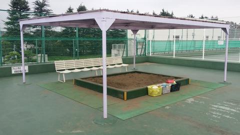 菅野終末処理場の砂場