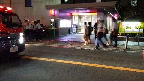 本八幡駅の三菱UFJ銀行の前でひき逃げ