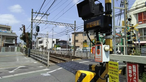 京成八幡駅踏切