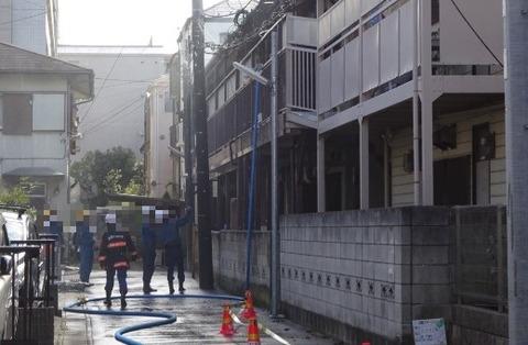 本中山3丁目のアパート火災