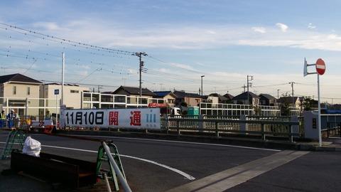 東菅野4丁目の木株橋