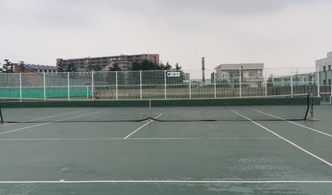 菅野終末処理場のテニスコート/市川市